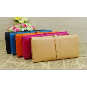Women's PU Leather Retro Simple Mature Large Capacity Wallet