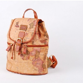 Cheap Cute World Map Printed Backpack Fashionable Travel Bags for Women