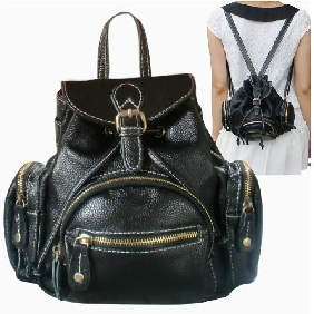 Cute Ladies Korean Fashionable Genuine Leather Cowhide Backpacks College Schoolbag Travel Bags for Women