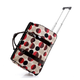 Ladies Fashionable Multifunctional Cute Metal Trolley Large Capacity Travel Totes Luggage Bags for Women